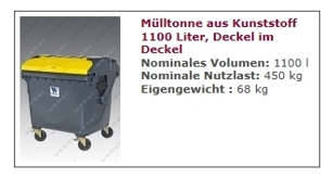 Müllcontainer 1100 l